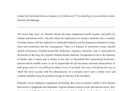 is jane eyre best described as a r ce or a gothic novel a  document image preview