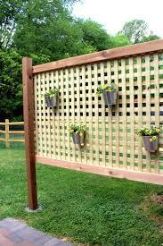Wood Patio Privacy Screen DIY