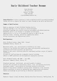 Early Childhood Education Cover Letters Template Early Childhood