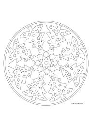 Coloriage Mandala Noel Colorier Dessin Imprimer Noel Diy