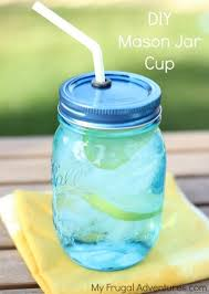 Decorating Mason Jars For Drinking How To Make DIY Mason Jar Cups My Frugal Adventures 8