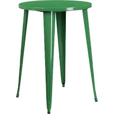 green metal 30 inch round indoor outdoor cafe bar table