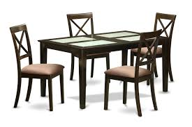 Set Of 4 Dining Room Chairs Piece Small Kitchen Table Set Round Table And 4 Dining Chairs Ebay