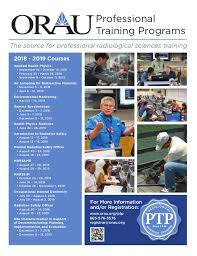 Training Flyer 2018 19 Orau Professional Training Programs Course Flyer