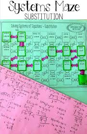 solving systems of equations by substitution maze