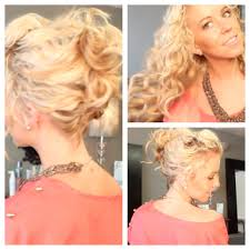 Second Day Curly Hairstyles Messy Summa Updo Youtube