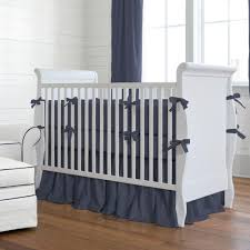 solid navy baby crib bedding