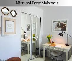 Mirrored closet door makeover | Door makeover, Doors and Bedrooms