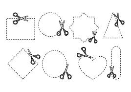 ここでカットfree イラスト図材料ダウンロード デザイン用