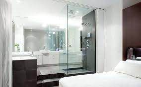 modern bedroom with bathroom. Simple Bedroom Open Bathroom Design 2 Modern With Master Bedroom  In H