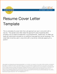 Cover Letter For Resume Format Examples Of Cover Letter For Resume