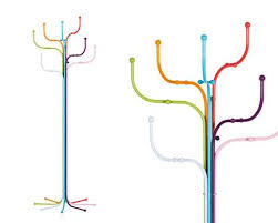 London Underground Coat Rack Extraordinary TubeInspired Coat Racks Fritz Hansen Coat Tree