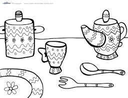 Fancy Tea Party Coloring Pages Shared By Printable Tea Party