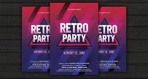 Flyers Formats 21 Retro Event Flyers Word Psd Ai Eps Vector Formats
