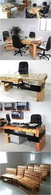 office desk europalets endsdiy. Recycled Wooden Pallets Office Furniture Desk Europalets Endsdiy