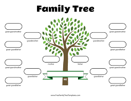 Family Tree Picture Template 4 Generation Family Tree Template Free Family Tree Templates