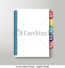 book cover with tab design style template can be used for e book cover e magazine cover vector