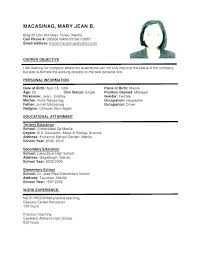 Format For Resume Job A Sample Of Latest Professional Proper