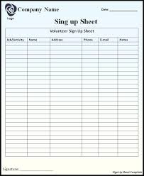 Printable Sign Up Sheet Template Free Free Sign Up Template Free Sign Up Sheet Template Free