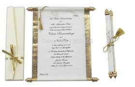 Scroll Wedding Invitations Card Wholesale Party Wedding Gold White