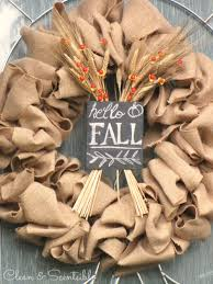 burap fall wreath and other ideas for decorating your front porch for fall