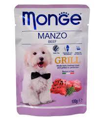<b>Monge Dog Grill</b> Pouch <b>пауч</b> для собак (говядина) 100г – купить по ...