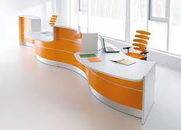 furniture office interior pretty orange black color furniture office counter design