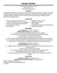 Mcdonalds Work Experience Resume Food Handler Resume Best Restaurant