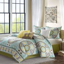 turquoise and yellow bedding. Brilliant Turquoise Teal Brown And Yellow Floral Bedding With Turquoise And T