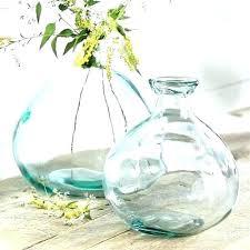 bubble bowl vase attractive short wide model of clear glass premium