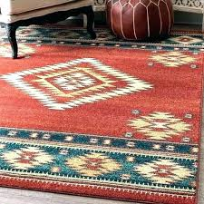 western style area rug southwestern rugs red blue beige tribal diamond wool