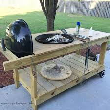 diy grill table custom weber bbq grill cart with ice chest