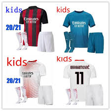 The home kit is inspired by the elegance and grandeur of the city of milan, its magnificent structures and its iconic architecture. 2021 Kids Kit 2020 2021 Ac Milan Soccer Jersey 2020 21 Ibrahimovic Paqueta Bennacer Rebic Kids Kit Maglia Da Calcio Calhanoglu Football Shirt From Messisport01 12 45 Dhgate Com