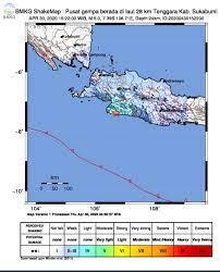 Gempa bumi kembali melanda salah satu daerah di indonesia. Gempabumi Tektonik M 5 0 Di Sukabumi Selatan Tidak Berpotensi Tsunami Bmkg