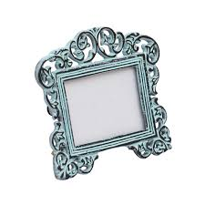 bulk whole handmade metal photo frame in light green color with distressed look decorative