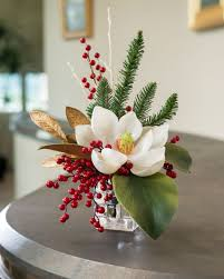 Magnolia & Berry<br>Artificial Holiday Floral WHITE