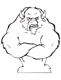 Small Picture Mean Bull With Muscles Coloring Page H M Coloring Pages