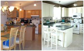 painted white cabinets before and after. Delighful Painted Kitchen Cabinets Painted White Before And After 2 On T