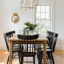 black windsor chairs. Farmhouse Dining Table With Black Salt Chairs Windsor A