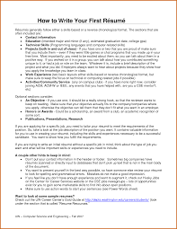 How To Write Your Resume How To Make Your First Resume 30385947