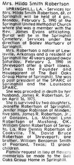 Hilda Smith Robertson (1920-1990) - Find A Grave Memorial