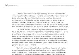 best friend or a good friend essay best friend essays
