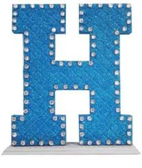 H M Ladies Size Chart Decoration Letter H With Pearl Baby Blue