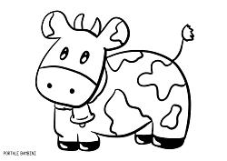 Disegni Di Mucche Da Stampare E Colorare Gratis Portale Bambini