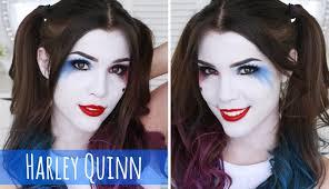 harley quinn makeup hair tutorial easy costume ideas you
