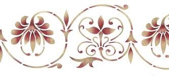Scroll Border Designs Ornate Scroll Wall Stencil Border