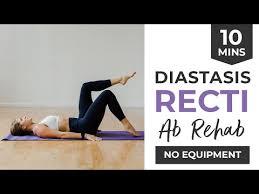 8 diastasis recti exercises 10 min abs