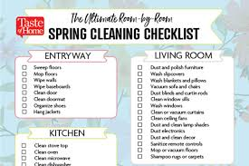 cleaning checklist the ultimate room by room spring cleaning checklist taste of home