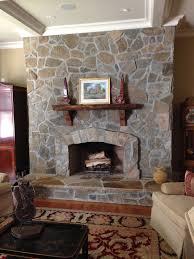 interior stone fireplace