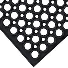 Anti Fatigue Kitchen Floor Mat Cactus Mat 3525 C1bx Vip Tuffdek 3 X 5 Black Heavy Duty Rubber